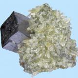 Galena, calcite Sweetwater Mine (Milliken Mine; Ozark Lead Mine), Ellington, Viburnum Trend District, Reynolds Co., Missouri, USA 45 mm x 38 mm x 35 mm (Author: Carles Millan)