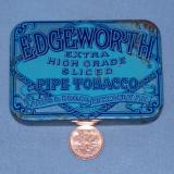 Here's the front of the tobacco tin. (Author: Ed Huskinson)