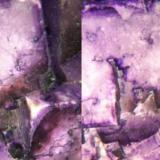 Fluorite, Mexico, 26x26x20mm, xx to 17mm edge, detail. Stereo pair, front and back lighting, field of view about 15mm wide. (Author: Gerhard Niklasch)