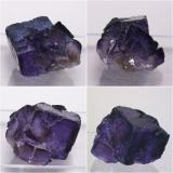 Fluorite, Mexico, 26x26x20mm, xx to 17mm edge, composite of four views. Diffuse daylight, plus fill-in flash in some of the shots. (Author: Gerhard Niklasch)