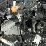 Sphalerite, chalcopyrite, pyrite, plumosite, calcite Trepča Valley, Kosovska Mitrovica, Kosovo 135 mm x 85 mm  Close-up view (Author: Carles Millan)