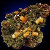 Wulfenite from Ojuela Mine, Level 7, La Campana, Mexico. Width of specimen 6 cm. (Author: Montanpark)