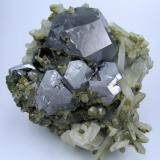Galena, calcite, quartz Dal'negorsk, Primorskiy Kray, Far-Eastern Region, Russia 90 mm x 90 x mm 50 mm (Author: Carles Millan)