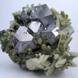 Galena, calcite, quartz Dal'negorsk, Primorskiy Kray, Far-Eastern Region, Russia 90 mm x 90 x mm 50 mm (Author: Carles Millan)
