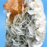Scheelite, muscovite Mt Xuebaoding, Pingwu Co., Mianyang Prefecture, Sichuan Province, China 70 mm x 50 mm x 30 mm (Author: Carles Millan)