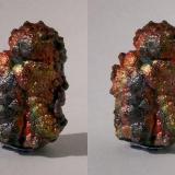 Iridescent Goethite; Tharsis, Huelva, Andalucía, España. 37mm tall. GN's collection id 09ESG-001. Stereo pair, taken in direct sunlight. (Author: Gerhard Niklasch)