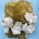 Barite, fluorite Moscona Mine, Solís, Llanera, Villabona mining area, Asturies, Spain 105 mm x 80 mm (Author: Carles Millan)