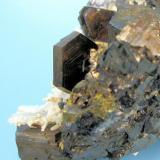 Pyrrhotite, galena, sphalerite, quartz Nikolaevskiy Mine, Dal'negorsk, Primorskiy Kray, Russia 68 mm x 48 mm  Partial view (Author: Carles Millan)