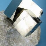 Pyrite Ampliación a mina Victoria, Navajún, La Rioja, Spain 80 mm x 68 mm. Main crystal size: 28 mm on edge (Author: Carles Millan)