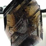 Axinite-fe, Puiva (Pouyva) deposit, 75 km from Saranpaul, Polar Urals, Tyumenskaya Oblast', Siberia, Russia, 3.1 x 2.2 x 0.7 cm (Author: Jim)
