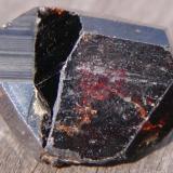 Cassiterite twin. Krantzberg Mine, Omaruru, Namibia. 3.1cm x 2.3cm x 2.9cm (Author: Debbie Woolf)