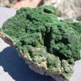 Libethenite, 6 cm across, South Rim, Pit, Tyrone Mine, Grant County, New Mexico (Author: Darren)