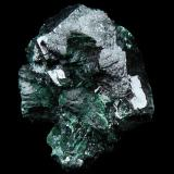 Malachite Congo or Namibia? on the back,some plancheite and native copper. (Author: parfaitelumiere)