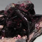 Close-up of erythrite crystals. (Author: Tracy)