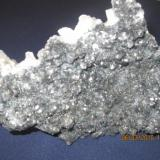 very rare hairy mineral with pulmozyte (bulanzeryte) , plumbocalcite , calcite size 18cm x 14cm (Author: Besi)