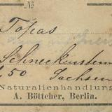 This nice 1900 label of the Berlin mineral dealer Ernst August Böttcher I once found on a flea market. (Author: Andreas Gerstenberg)