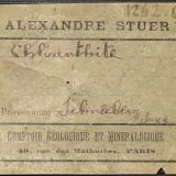 Alexandre Stuer label (1890) of a Schneeberg chloanthite. (Author: Andreas Gerstenberg)