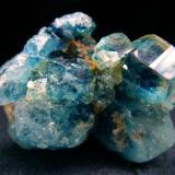 Euclase crystals cluster, from Lost Hope Mine, Mwami, Karoi District, Mashonaland West, Zimbabwe  Size 31 x 25 x 23 mm (Author: olelukoe)