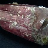 Perfect double terminated and completed  tourmaline crystal from Afghanistan, Paprok  locality  Size 90 x 54 x 50 mm (Author: olelukoe)