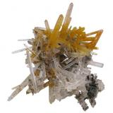 Quartz crystal cluster, from Lechang miner, Guangdong, China. It weighs 5,3 grams and measures 38mm by 35mm by 25mm. (Author: Paul S)
