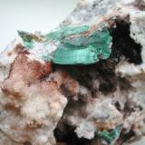 3,5 cm malachite aggregate on quartz from the Clara mine near Oberwolfach, Black Forest. (Author: Andreas Gerstenberg)