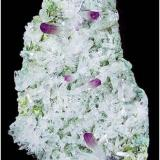 Las Vigas, Mexico amethyst plate atop green Epidote. Measures 17 x 10 x 3 cm and weighs 500 grams (Author: VRigatti)
