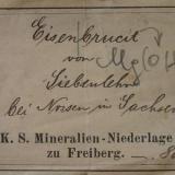 Bergakademie Freiberg label (1900) (Author: Andreas Gerstenberg)