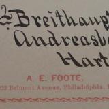 Albert Edward Foote label (Author: Andreas Gerstenberg)