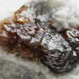 Esfalerita. Mina Las Manforas. Aliva. Cantabria. Cristal de 40x15 mm. (Autor: Jose Luis Otero)