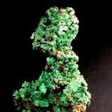 CUPRITA pseudomorfica de cobre nativo, recubierto de malaquita (Cerro Minado-Huerca Overa-Almeria) 2005.jpg (Autor: DAni)