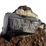Corindón, detalle. Tamaño del cristal: 1,8x2,8 cm. (Autor: Jmiguel)