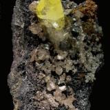 Anglesita, Cerusita, Galena. 8x4,5x6 cm. (Autor: Jmiguel)