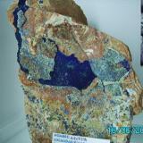 Azurita  Pinar de Bedar   Almeria año 1999 pieza 15x9cms. (Autor: Gelo)