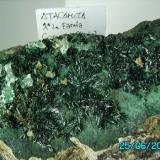 Atacamita y Crisocola Mina La Farola  Desierto de Atacama  Chile año2002 pieza12x13cms. (Autor: Gelo)