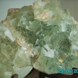 Fluorita  China año 2008 Cristal más grande 3,5cms.de arista. (Autor: Gelo)