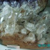 Drusa de Cuarzo Minas Gerais  Brasil año 2000 cristal más grande 7cms. (Autor: Gelo)