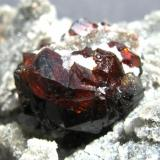 Esfalerita. Mina Yaoganxian. Yizhang. Hunan. China. Tamaño cristal 23 mm. (Autor: Jose Luis Otero)