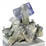 Fluorita, cuarzo, arsenopirita Yaogangxian Mine, Yizhang, Chenzhou, Hunan, China (Autor: Carles Millan)