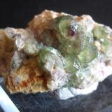 Y otra pieza de 5 cm de fluorita verde con algún zonado morado. Arteixo, (A Coruña). Año 2000 (Autor: usoz)
