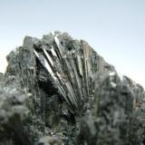 Detalle de la pieza anterior. Pirita. Mina Mercadal. Mercadal. Cantabria. Tamaño de los cristales 15 mm. (Autor: Jose Luis Otero)