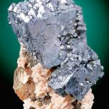 Galena with Dolomite  Barr Mine Tri-State District Picher Field, Treece Cherokee County, Kansas United States of America  12.5 x 9.0 x 7.8 cm overall (Author: GneissWare)