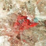 Cinabrio Almadén, Ciudad Real, Castilla-La Mancha, España. cristales aciculares 1 mm 2010 (Autor: Nieves)