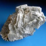 BARITINA Pozo nº5-Minas de la Cruz-Linares-Jaén. Pieza; 7,6x5,6cm. Agregado; 6,4cm. Cristales; 2cm de arista. (Autor: DAni)