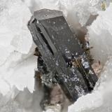 Aegirine from Poudrette quarry (Demix quarry; Uni-Mix quarry; Desourdy quarry), Mont Saint-Hilaire, Rouville RCM, Montérégie, Québec, Canada FOV=5mm (Author: Doug)