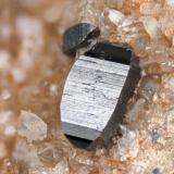 Anatase fromPoudrette quarry (Demix quarry; Uni-Mix quarry; Desourdy quarry), Mont Saint-Hilaire, Rouville RCM, Montérégie, Québec, Canada FOV=3mm (Author: Doug)