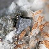 Anatase from Poudrette quarry (Demix quarry; Uni-Mix quarry; Desourdy quarry), Mont Saint-Hilaire, Rouville RCM, Montérégie, Québec, Canada FOV=3mm (Author: Doug)