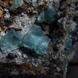 Twinned Rogerley Fluorites to 15 mm (Author: nurbo)