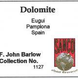 Las mejores Dolomitas del mundo son las de Eugui. Como referencia de ello esta etiqueta de la famosa colección de John Barlow, que tenía, como no, su Dolomita de Eugui. (Autor: Jordi Fabre)