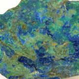 Azurita de la escombrera de la mina Pilar en Colmenarejo (Autor: Ramón Jiménez)