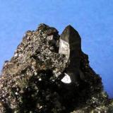 Allanita, cristal de 1,8 cm. Mina Nueva Vizcaya, Burguillos del Cerro, Badajoz. Col. y foto Nacho Gaspar. (Autor: Nacho)